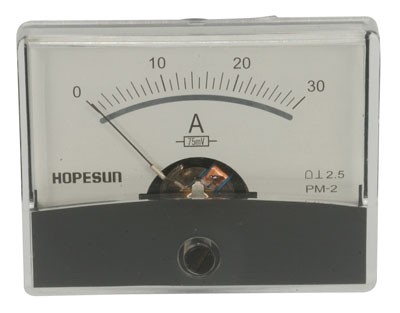 30 Amp DC Panel Meter with Shunt