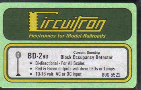 BD-2HD Block Occupancy Detector