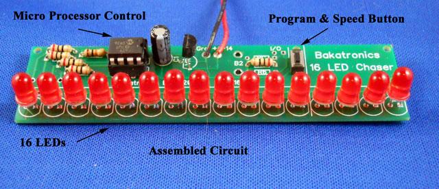 BK116 Chaser Kit, 16 LEDs