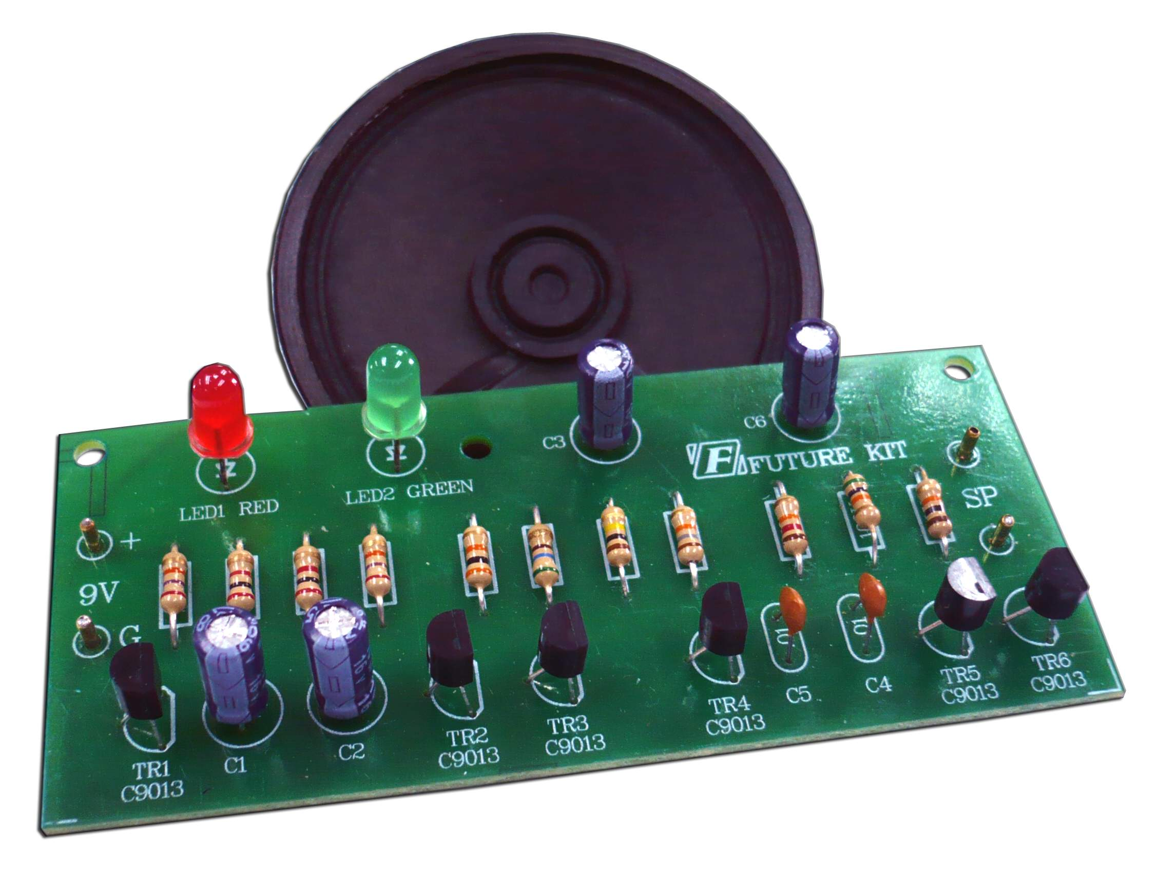 FK1202: POLICE SIREN WITH 2 LED FLASHER