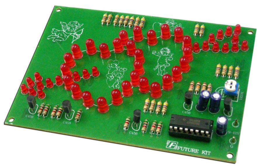 Double Heart Flasher (50 LEDs)