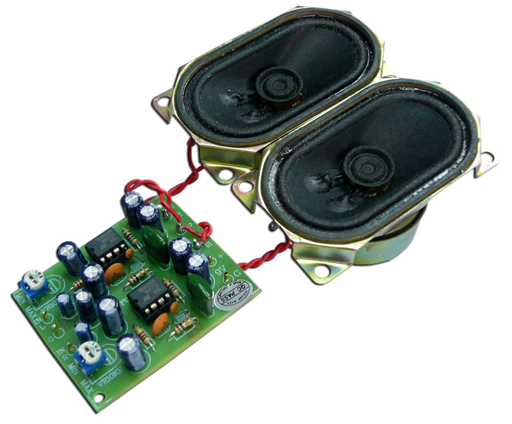 FK675: POWER AMP 2+ 2 W STEREO (WITH SPEAKER)