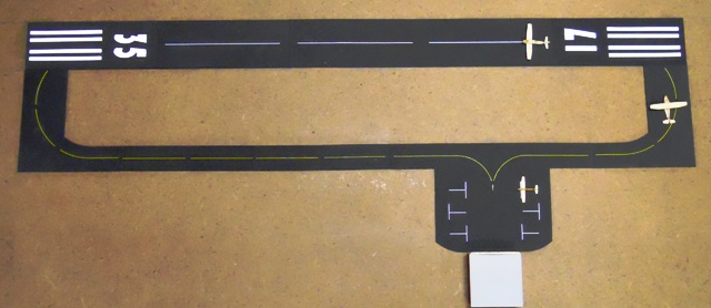 BR-300 Laser Cut Runway Pavement Kit for N & Z Scale