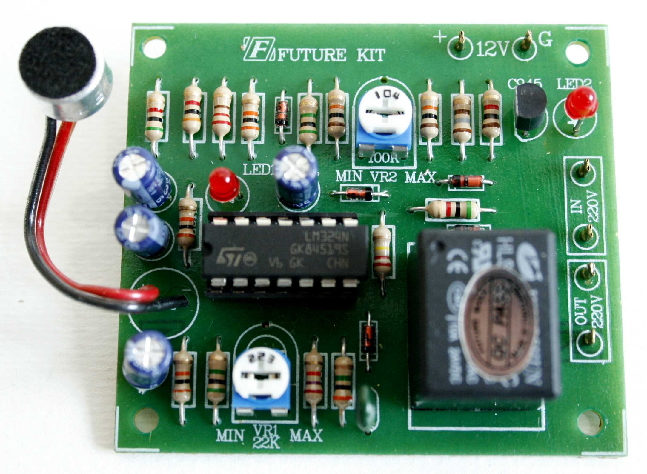 Fk408 Voice Activated Switch Dc Relay Kit