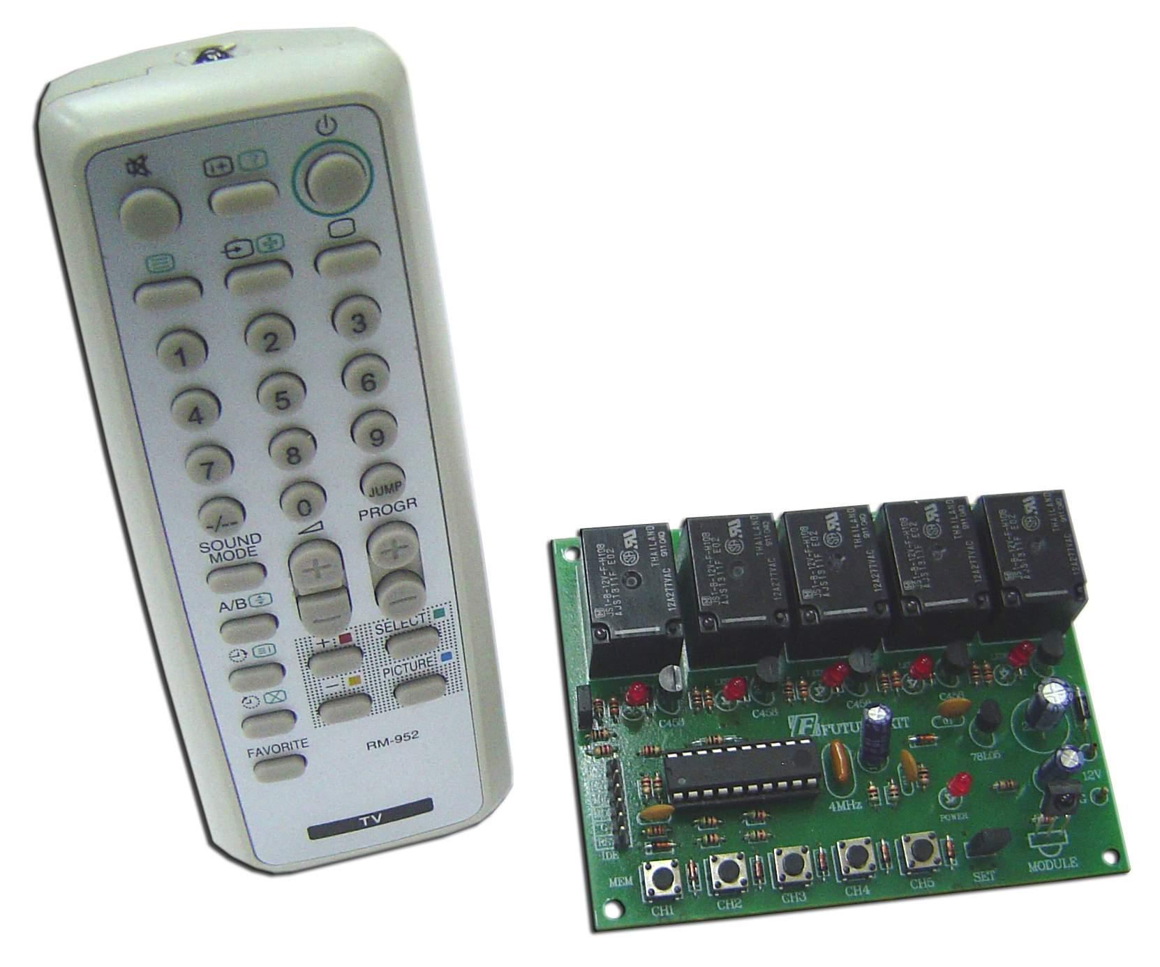 FK442 Five Channel Remote Control & Relay Board